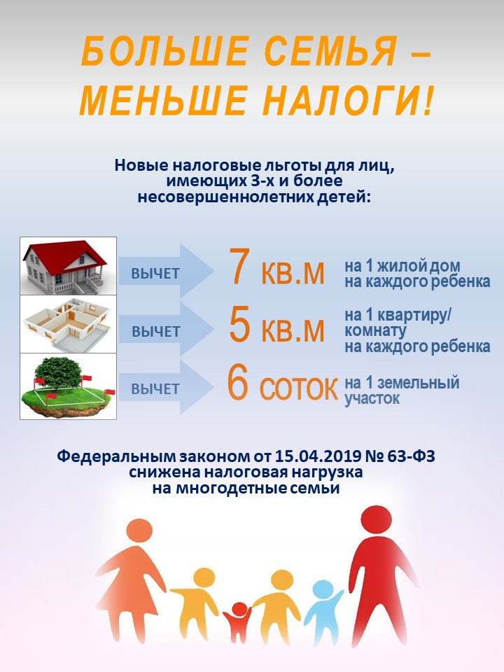налог на недвижимость многодетным семьям москва
